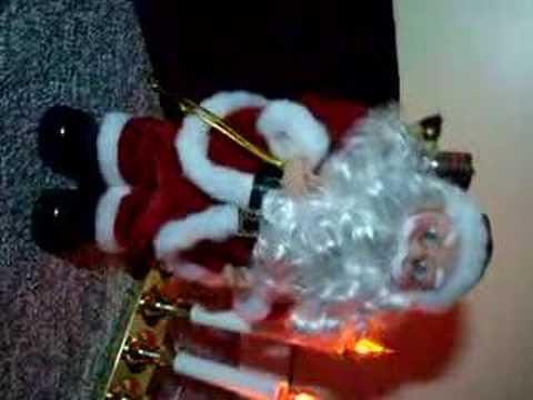 Animated Christmas Figure; Dancing Singing Santa Claus I