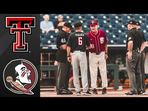 #8 Texas Tech vs Florida State College World Series Elimination Game | College Baseball Highlights