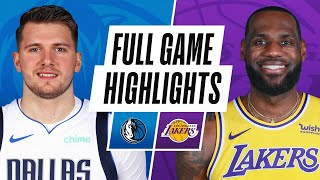 MAVERICKS at LAKERS | FULL GAME HIGHLIGHTS | December 25, 2020