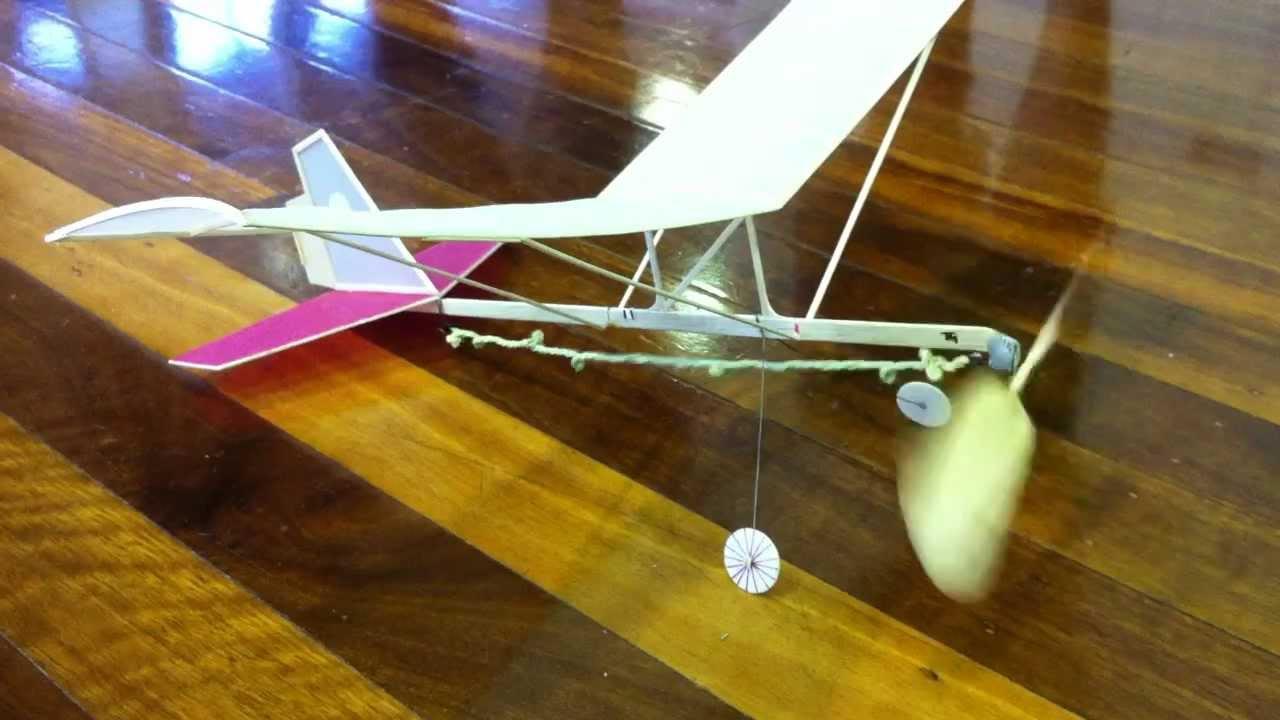 Hanger Rat Indoor Rubber Band Powered Model Aircraft Youtube