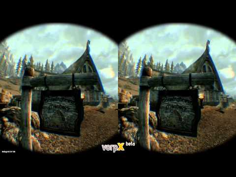 New vorpX: Skyrim in VR on Oculus Rift DK2 and Positional Tracking