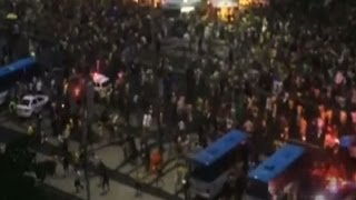 Raw: Stampede in Rio During World Cup