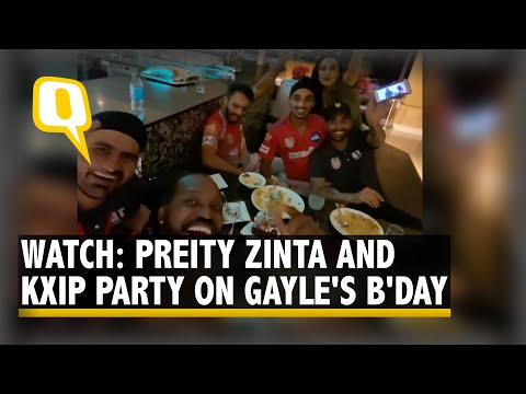Watch: Chris Gayle, Preity Zinta & team KXIP shake a leg at his birthday celebration