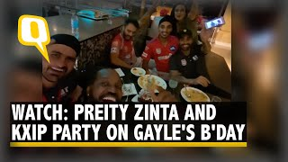 Watch: Chris Gayle, Preity Zinta & team KXIP shake a l..