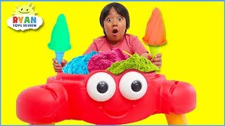 Ryan Pretend Play Selling Ice Cream and clean up with cleaning toys!!!