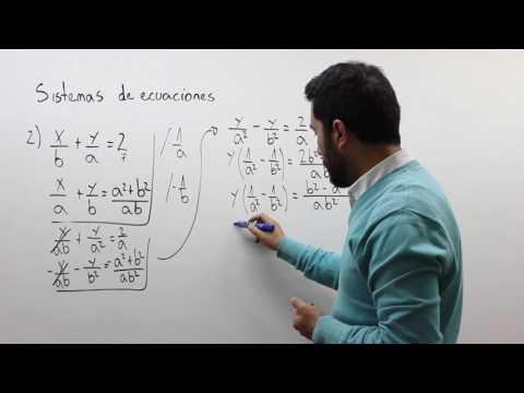 Sistemas de ecuaciones literales 2