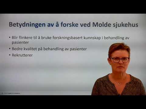 Om Molde sjukehus sine forskingsprosjekt ved Åse Hagen Morsund