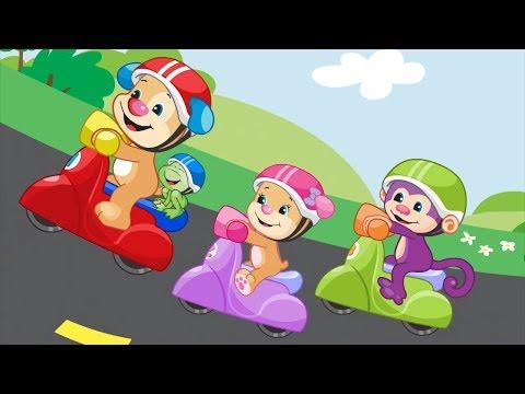 Lernspaß | Lass uns Scooter fahren! | Fisher-Price Deutsch | Kinderlieder | Cartoons für Kinder