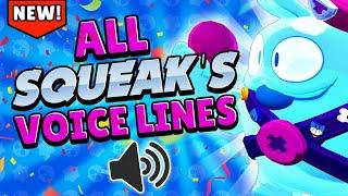 ALL SQUEAK'S VOICE LINE! | Brawl stars Squeak Voice #GoldarmGang