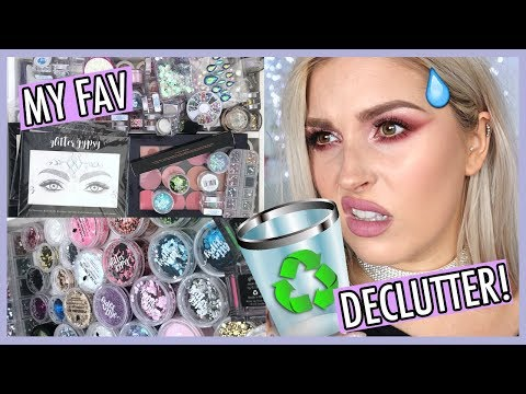 ? ORGANIZE AND DECLUTTER MY MAKEUP COLLECTION! ? GLITTER & COLOURPOP STUFF