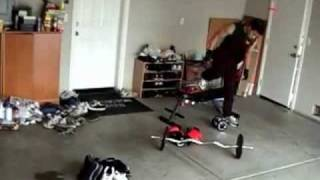 El truco de la pesa de gimnasia