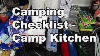 Camping Checklist - Camp Kitchen Gear