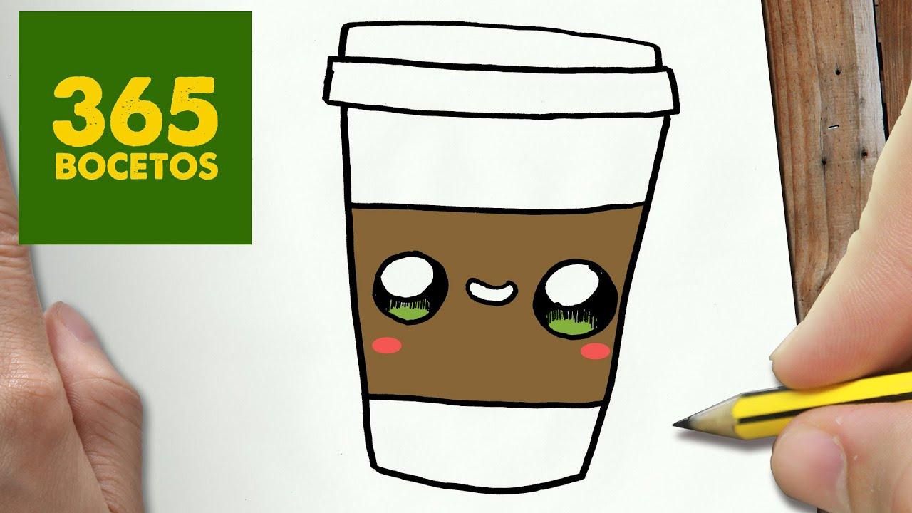 Como Dibujar Cafe Kawaii Paso A Paso Dibujos Kawaii Faciles How