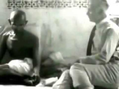Mahatma Gandhi Talks  The First talking picture ever made