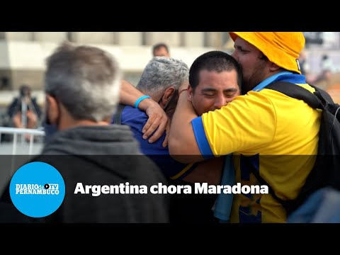 Argentina chora perda de Maradona