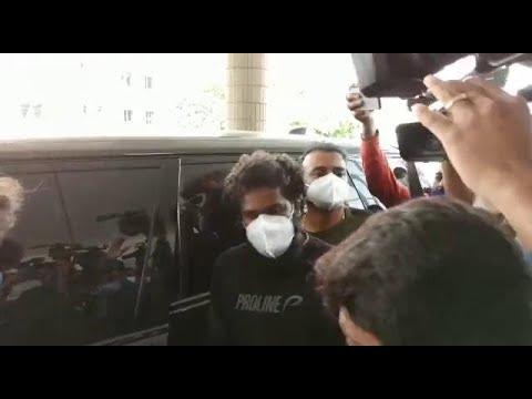 Hyd: Allu Arjun visits Apollo Hospitals to see Sai Dharam Tej
