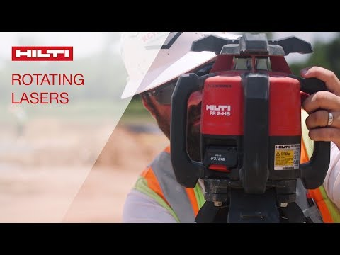 REVIEW of Hilti rotating laser drop resistance technology