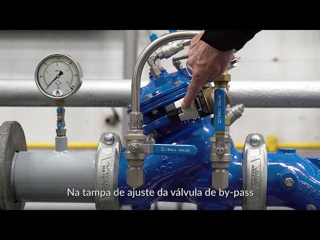 Válvula redutora de pressão BERMAD 720-2B com by-pass de baixo fluxo