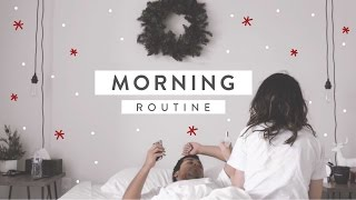 Lazy Winter Holiday Morning Routine! Christmas 2016 | JASMAS ❄