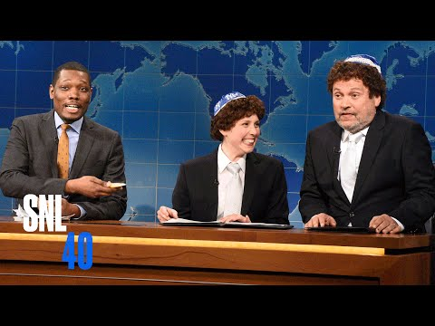 Weekend Update: Jacob the Bar Mitzvah Boy Explains Passover With His Dad - SNL