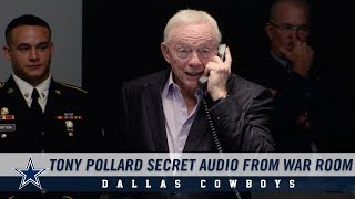 Secret Audio: Listen As The Cowboys Call Tony Pollard In War Room | Dallas Cowboys 2019