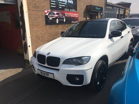 BMW X6 SATIN WHITE Wrap by Cardiff Tints