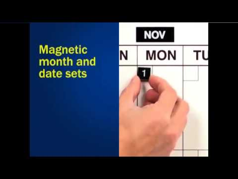 Classic Flexible-Day® Perpetual Magnetic Dry Erase Calendar