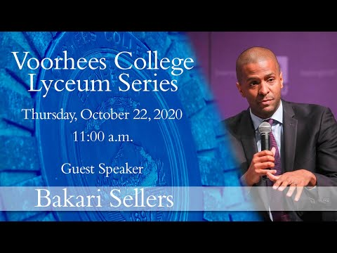 Voorhees College Lyecum Series with Mr. Bakari Sellers