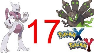 Pokemon X and Y Mega Mewtwo & Legendary Z pokemon Zygarde Walkthrough part 1 Gameplay 3DS HD