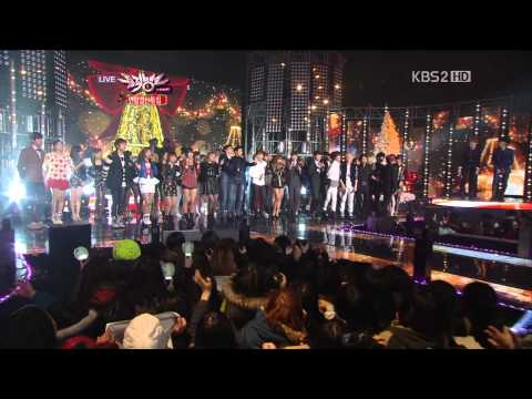 【1080P】All Artist (TVXQ,f(x),SHINee,BEAST..) - All I Want For Christmas Is You (21 Dec,2012)