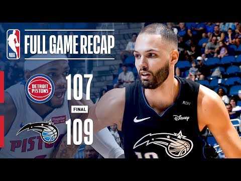 Full Game Recap: Pistons vs Magic | Fournier Wins It At The Buzzer