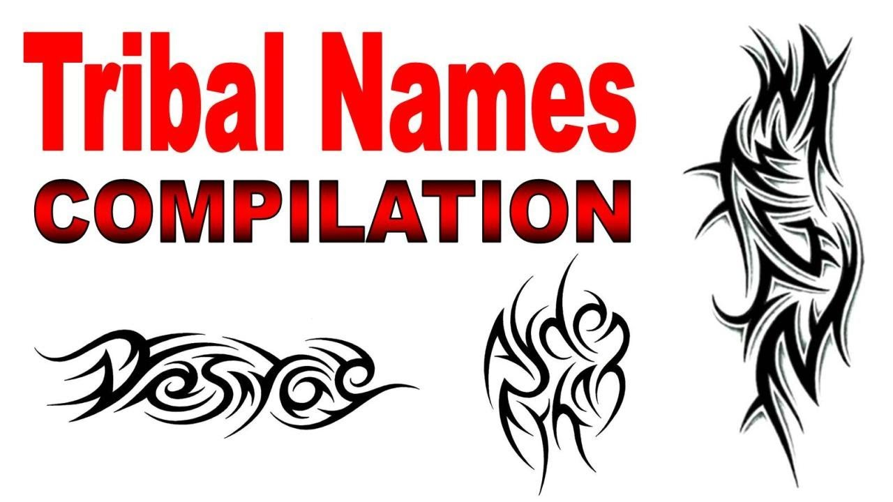 Tribal Name Tattoo Design