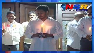 Watch: CM YS Jagan and govt officials stand with candles..