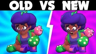Old vs New Face Animations | Brawl Stars Season 6 update #goldarmgang