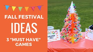 "Fall Festival Ideas - 3 ""Must Have"" Games!"