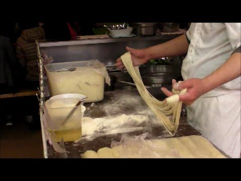 Chinese Chef Makes Noodles by Hand. Hand Pulled Noodles. London Street Food
