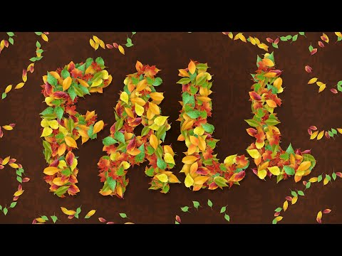3D Leaf Lettering in Art Text