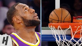 LeBron James Scores a Wedgie on 3-Point Shot - Lakers vs Knicks   March 17, 2019