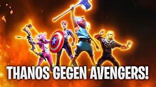 THANOS gegen AVENGERS MEGA BATTLE + MARVEL SKIN! 👿   Fortnite: Battle Royale