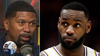Jalen Rose reacts to LeBron's uncalled travel vs. the Jazz | Jalen & Jacoby