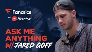 Ask Jared Goff Anything: from how funny Todd Gurley is to Kevin Durant as a WR | #FanaticsAMASeries