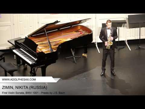 Dinant 2014 - ZIMIN Nikita (First Violin Sonata, BWV 1001 - Presto by J.S. Bach)