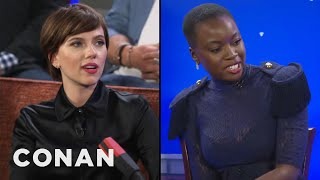 Danai Gurira & Scarlett Johansson On Women Kicking Ass In The Avengers Universe  - CONAN on TBS