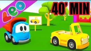 40 min compilation avec Léo le camion benne curieux et les camions
