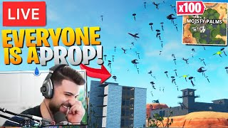 I Told 100 Streamsnipers To Drop Moisty Palms! (Everyone Was A Prop!) - Fortnite Battle Royale