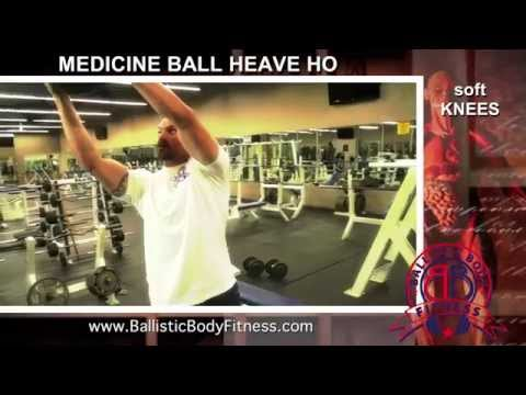 Medicine ball heave ho for core, and shoulders - BBF 90 Day Fitness Challenge Instruction Video #47