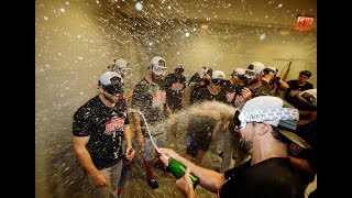 Red Sox celebrate winning AL East at Yankee Stadium
