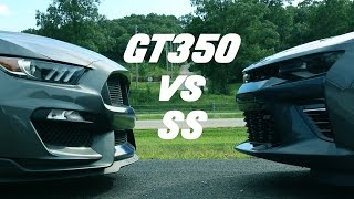 2016 Shelby GT350 vs 2016 Camaro SS