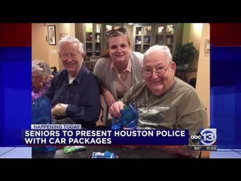 ABC 13 (KTRK) - Belmont Village Residents Present Houston Police with Care Package