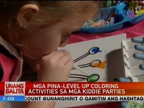 UB: Mga pina-level up coloring activities sa mga kiddie parties